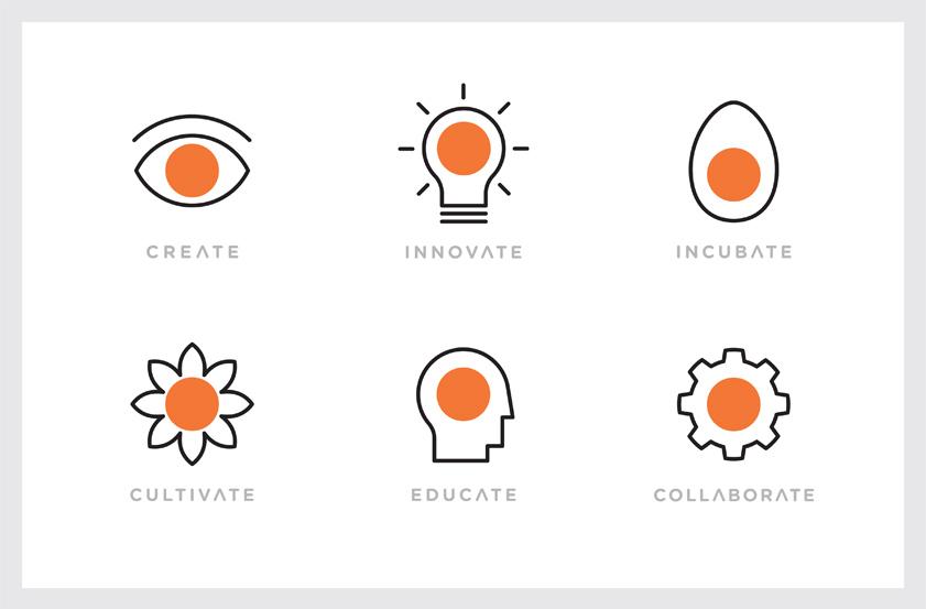 Gee Chung Design Art Center Dot Launch Secondary Symbols
