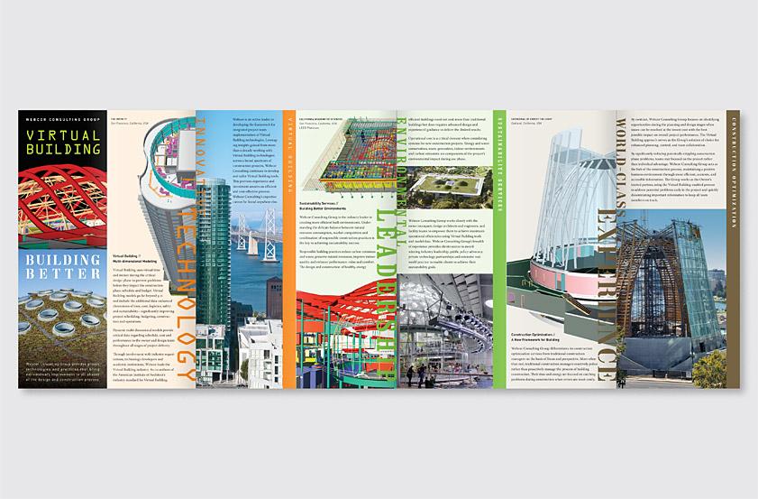 Gee + Chung Design: Webcor Accordion Fold Brochure