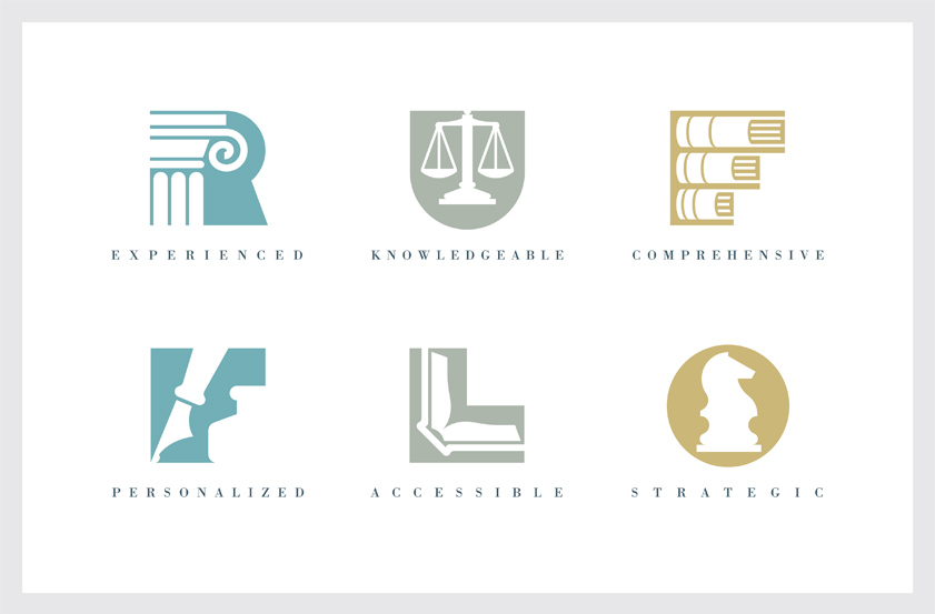 Law Book Logos Gee + chung design: rufflo business law